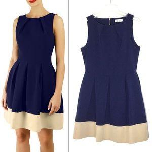 Closet Made in London Navy Blue Skater Dress